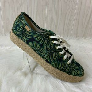 Rifle Paper Keds Palm Leaves Espadrille Sneakers 9